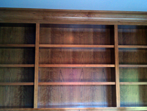 custom bookshelve woodworking